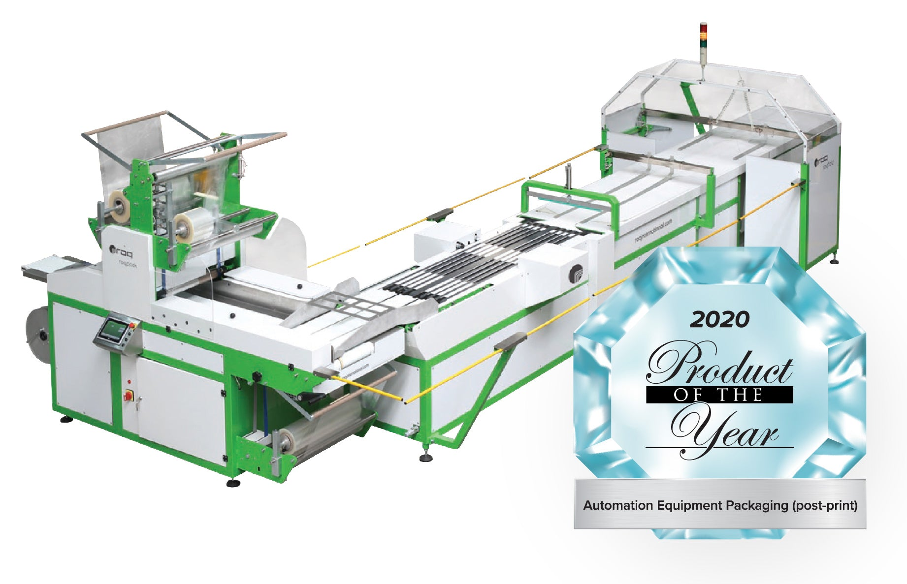 Photo of the ROQ Folding Line as Product of the Year Winner with Product of the Year logo