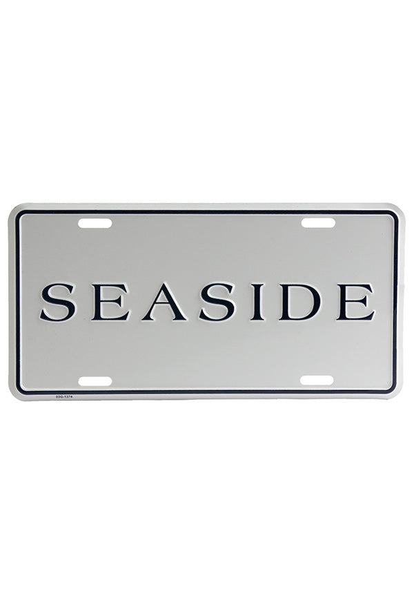 Seaside License Plate
