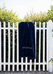Navy Seaside Beach Towel