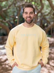Unisex Yellow Seaside Sweatshirt