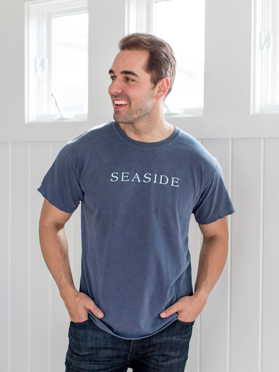 Dark Grey Unisex Shortsleeve Seaside Shirt
