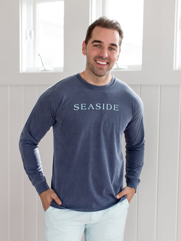 Unisex Longsleeve Dark Grey Seaside Shirt