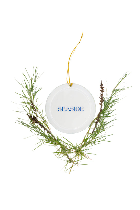 Seaside Flat Christmas Ornament
