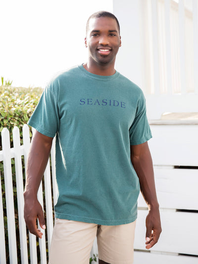 Blue Spruce Dark Green Shortsleeve Seaside Tee