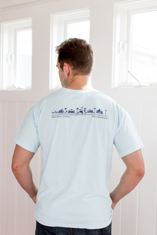 Chambray Shortsleeve Unisex Seaside Tee