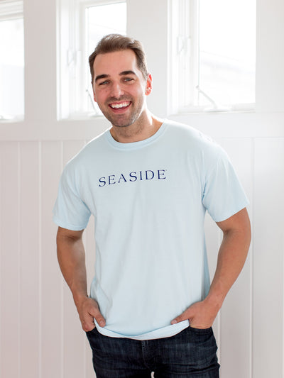 Unisex Shortsleeve Light Blue Seaside Shirt