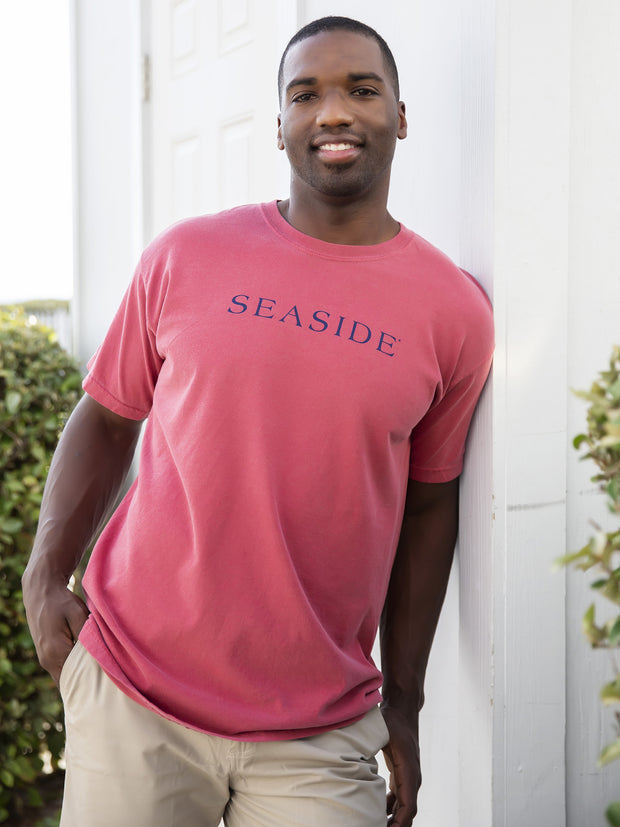 Crimson Shortsleeve Unisex Seaside Tee