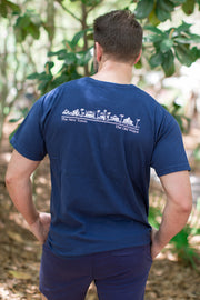 Navy Shortsleeve Unisex Seaside Tee