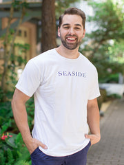 White Shortsleeve Unisex Seaside Tee