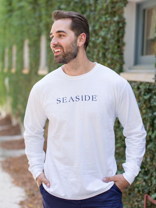 White Longsleeve Unisex Seaside Tee