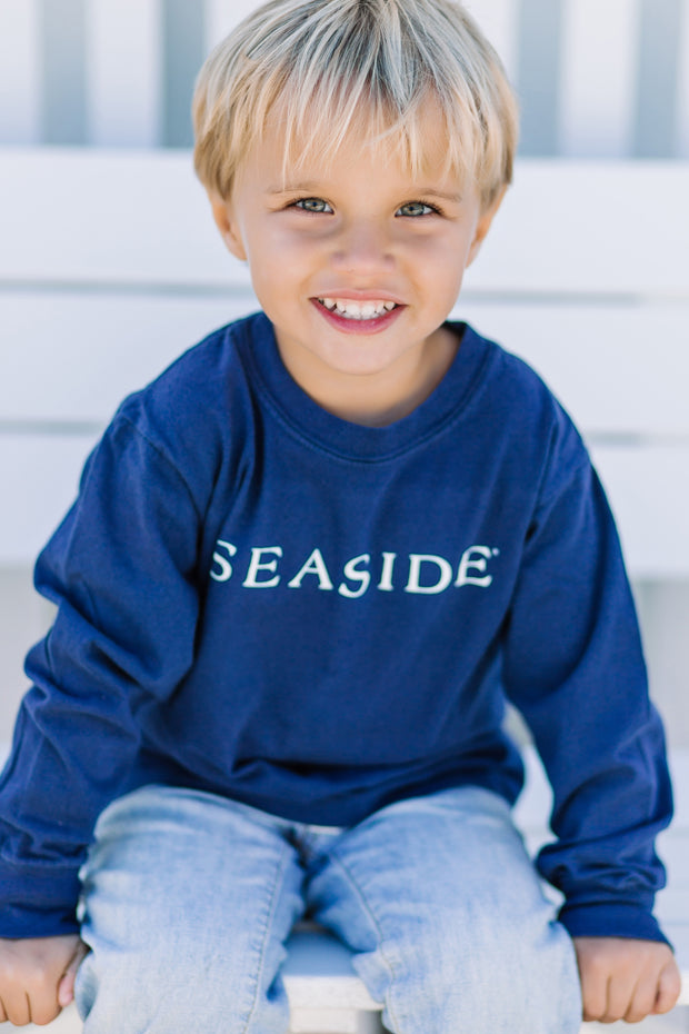 Navy Longsleeve Seaside Tee