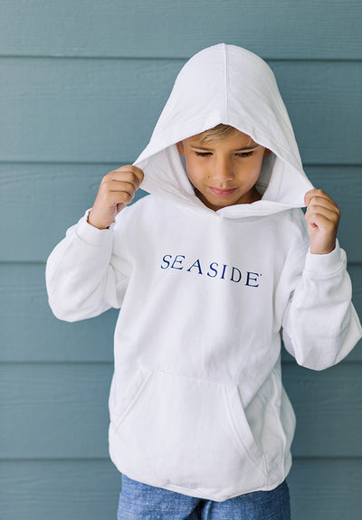 Youth White Seaside Pullover Hoodie