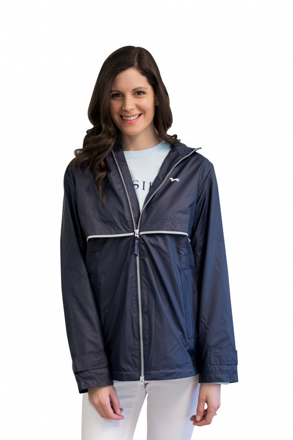 Women's Navy Seaside Rain Jacket