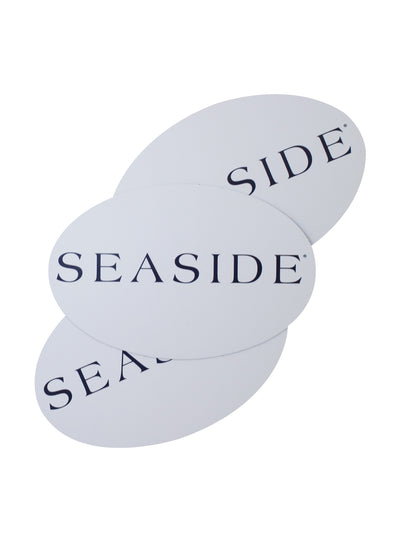 White Seaside Oval Magnet