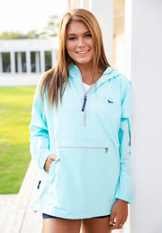Mint & Navy Pack-n-go Pullover