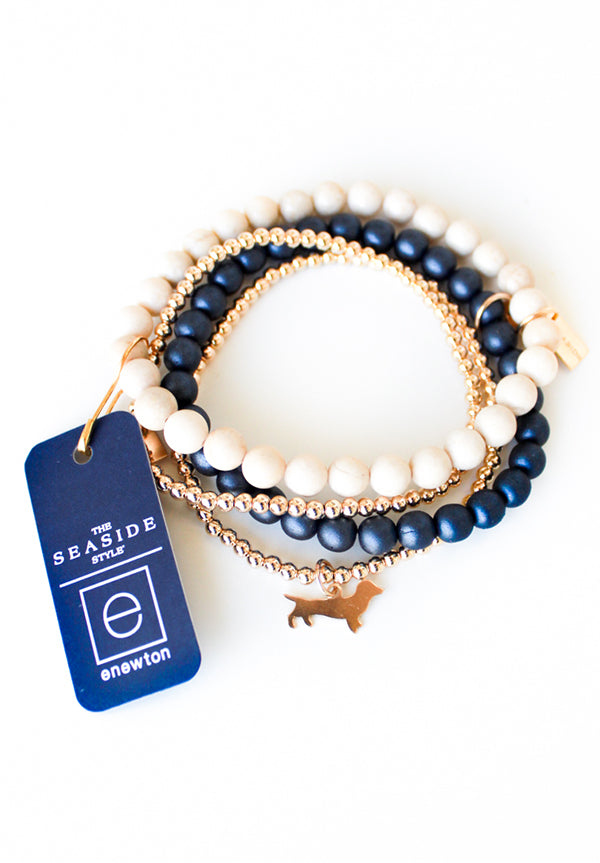Navy Promise Bracelet with Seaside Tag