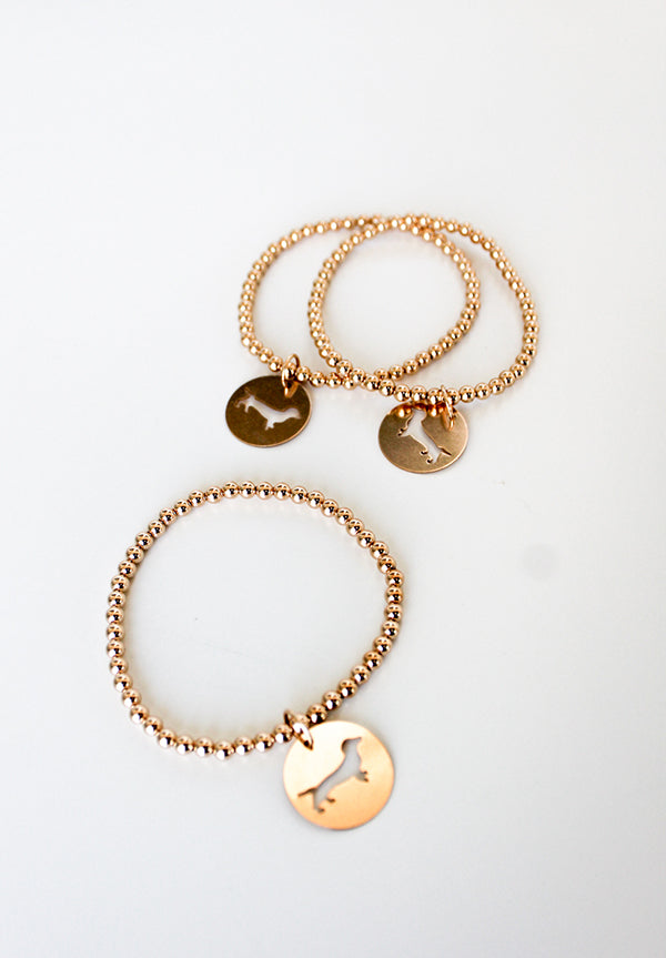 Classic Gold Bracelet with Bud Disc