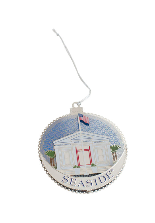 Seaside Post Office Christmas Ornament