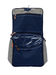 Hanging Navy Stripe Travel Kit