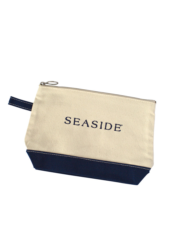 Canvas Seaside Makeup Bag
