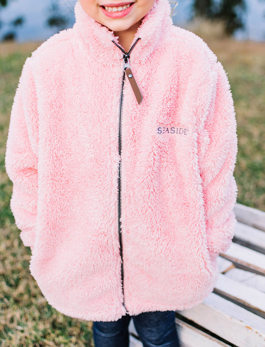 Youth Pink Newport Fleece Sweatshirt
