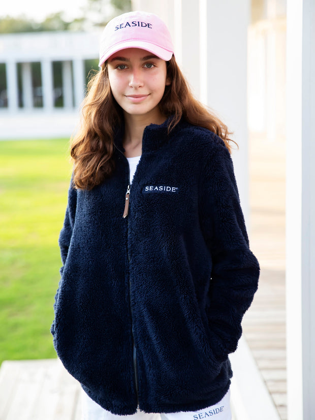 Ladies Seaside Newport Navy Full Zip Fleece