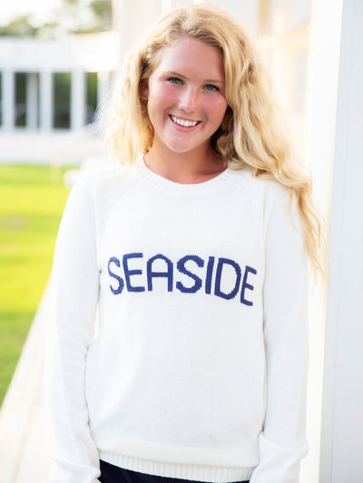 White Seaside Knit Sweater