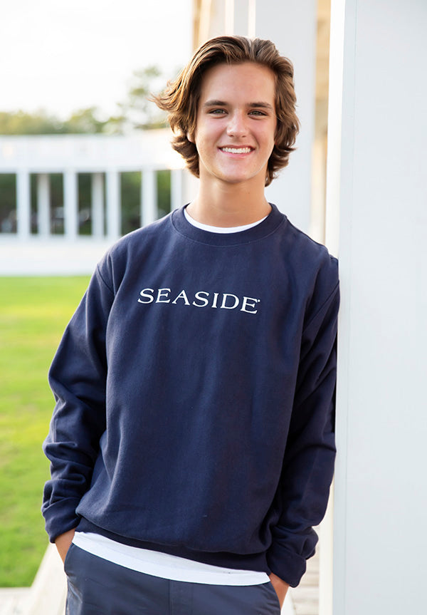 Navy Reverse Weave Seaside Sweatshirt