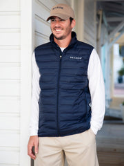 Navy with White Men's Columbia Vest