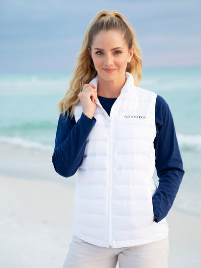 White Columbia Seaside Vest