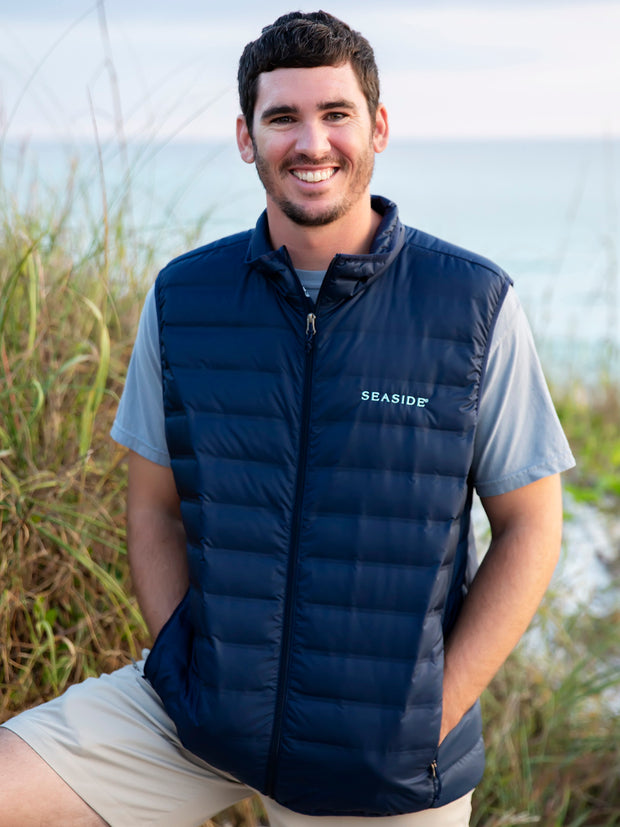 Navy and Mint Seaside Columbia Vest