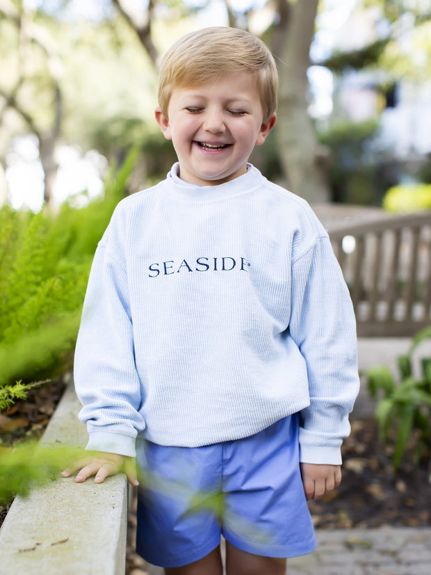 Youth Chambray Ribbed Sweatshirt