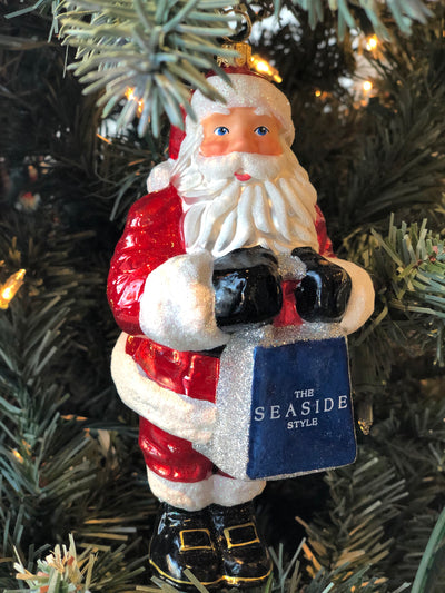 Seaside Collectible Santa Ornament