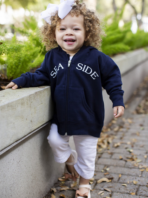 Navy Toddler Seaside Zip Hoodie