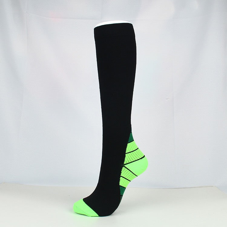 Green|Black Compression Socks