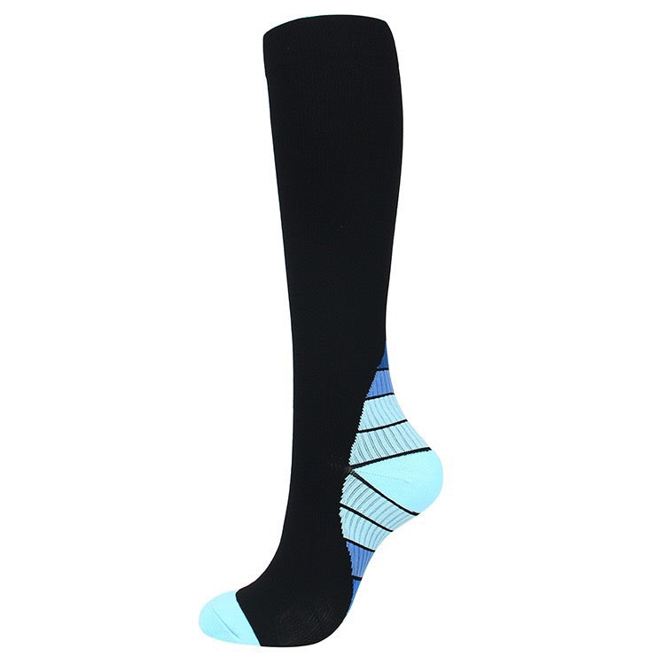 Blue|Black Compression Socks