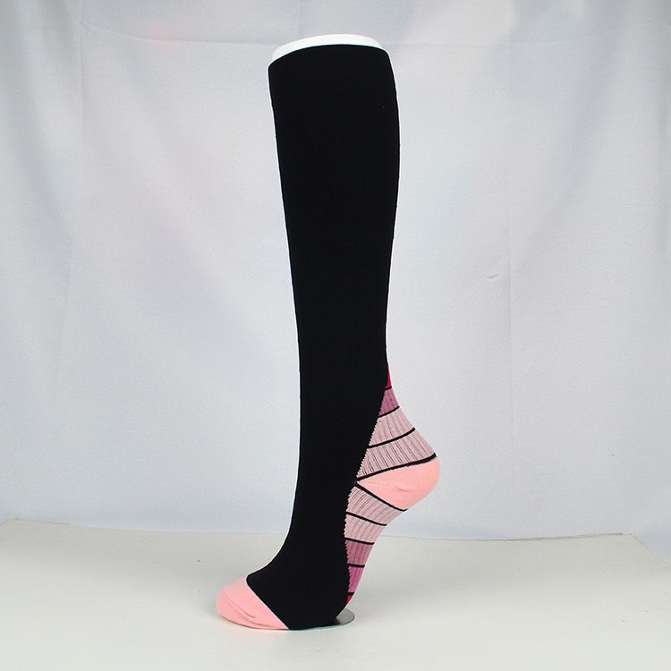 Pink|Black Compression Socks