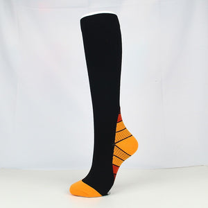 Orange|Black Compression Socks