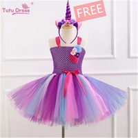 【50% OFF for Easter】TuTu Unicorn Dress——Free Unicorn Headband