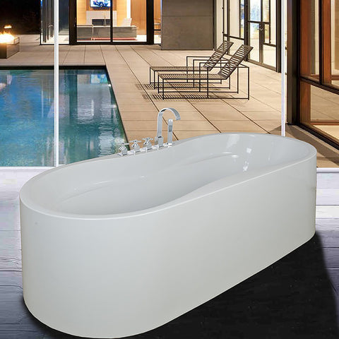 "AKDY 67"" Freestanding Soaking Bathtub ABTF241"