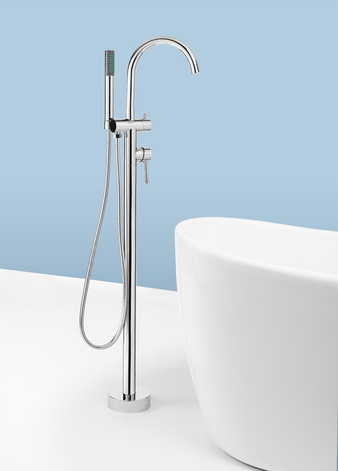 AKDY Freestanding Tub Filler Faucet W/ Handheld Shower AZ 8723
