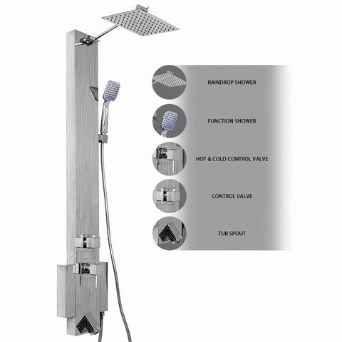 "AKDY 48"" Stainless Steel Shower Panel ASP0010"