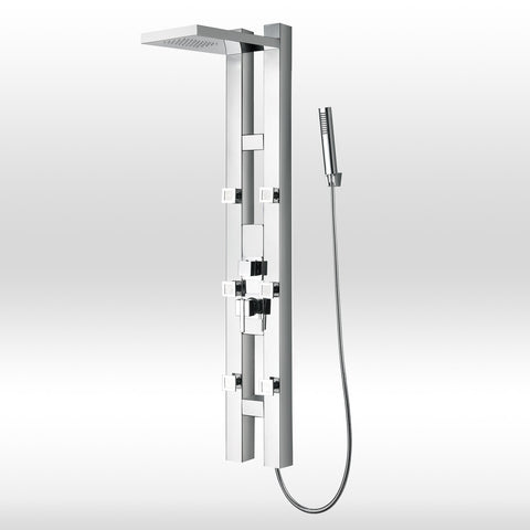 "Golden Vantage 59"" Stainless Steel Shower Panel GSP9855 by AKDY"