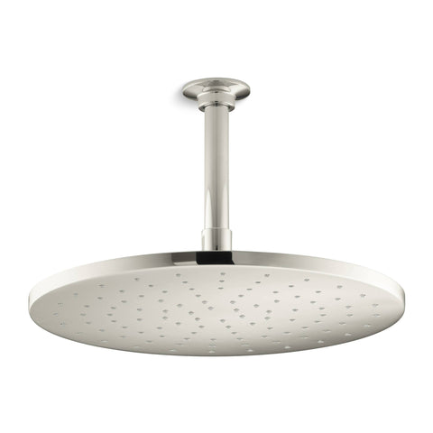 "Kohler 12"" Contemporary Round Rain Showerhead - Polished Nickel"