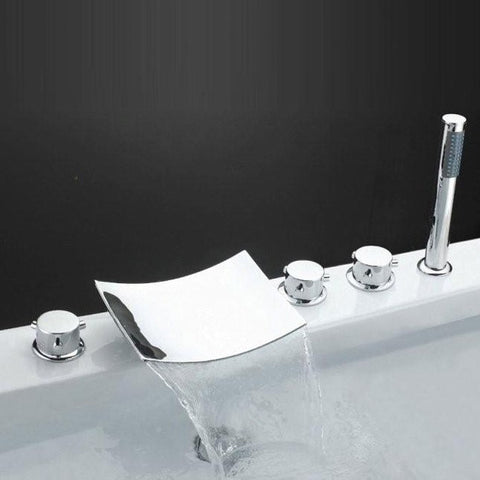 Sumerain  Waterfall Bathtub Faucet w/ Hand Shower S2048CS