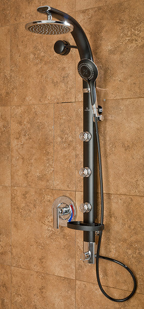 Pulse ShowerSpas Bonzai Shower System   Black
