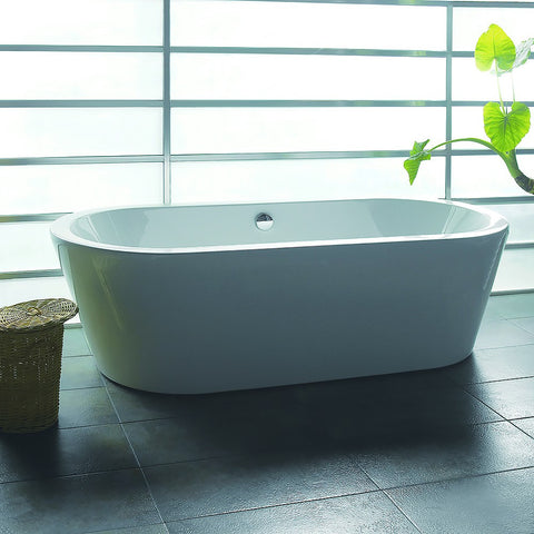 "AKDY 71"" Freestanding Soaking Bathtub AZ-F224"