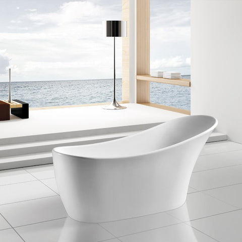 "AKDY 63"" Freestanding Soaking Bathtub - AZ-F278"