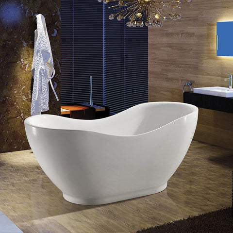 "AKDY 67"" Freestanding Soaking Bathtub ABTF290"