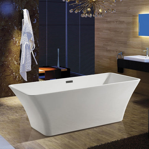 "AKDY 67"" Freestanding Soaking Bathtub AZ-F295"